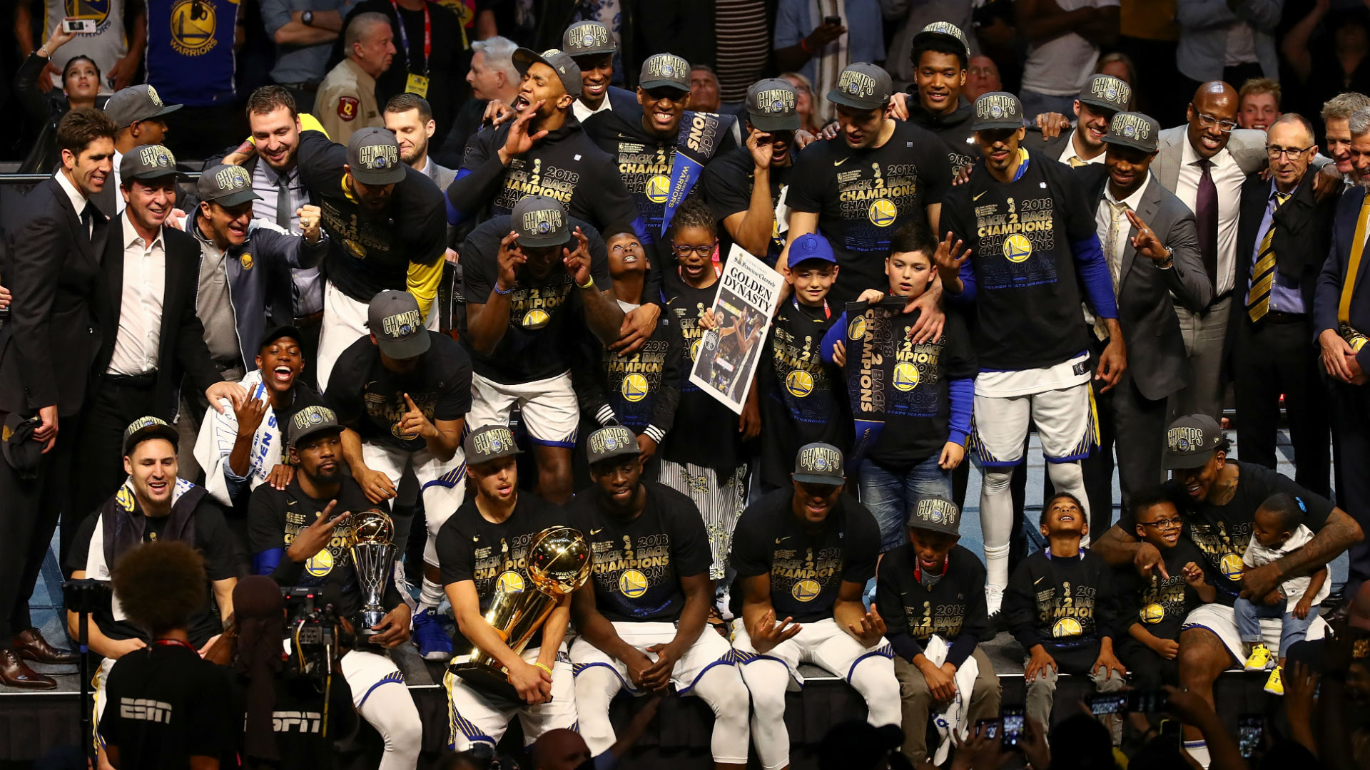 Watch: Warriors get wild celebrating second straight title at parade