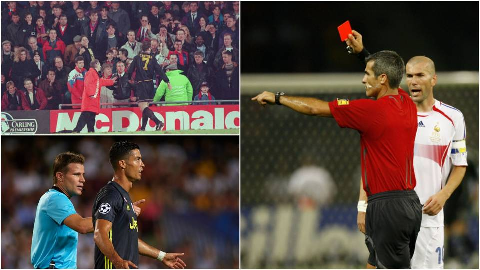 Ronaldo, Zidane, Cantona and the most infamous red cards