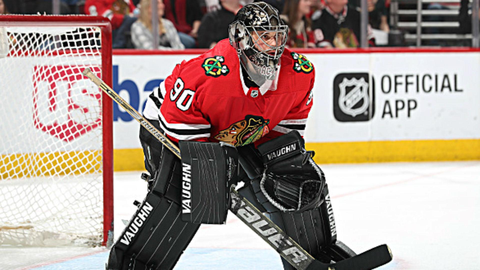 Scott Foster, accountant turned Chicago Blackhawks goalie, stars in NHL debut