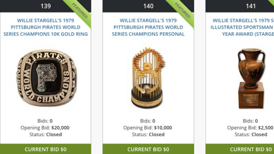 Willie Stargell auction items