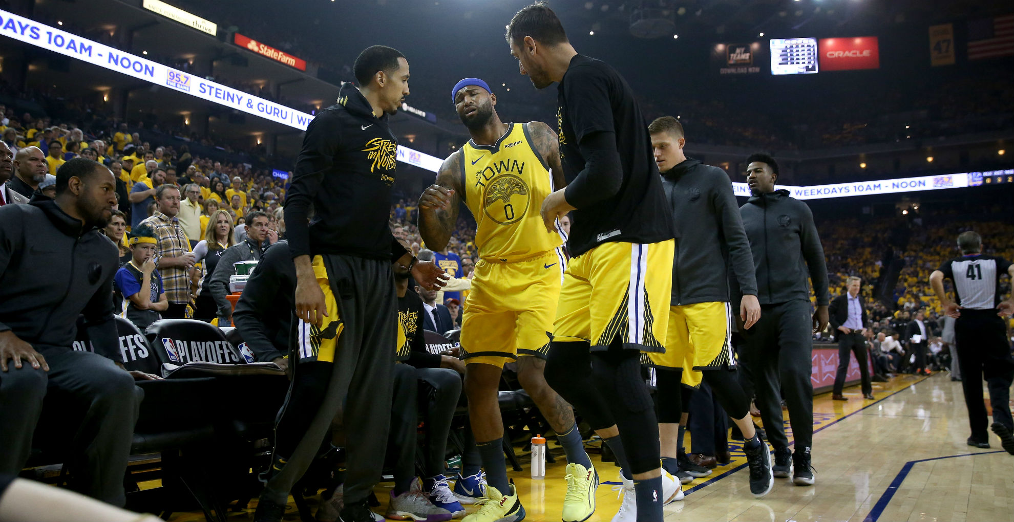 DeMarcus Cousins injury update: Warriors expect big man to miss rest of postseason, report says