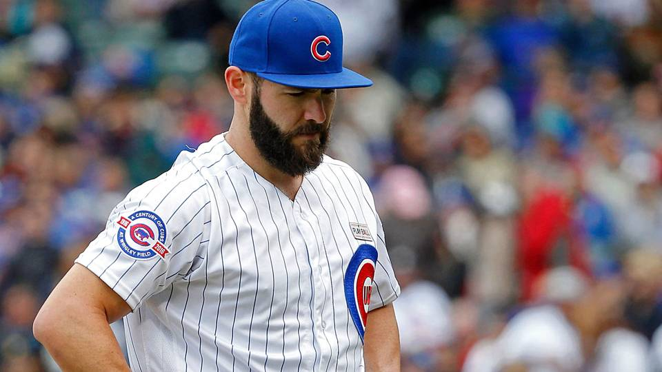 Cubs finally lose with arrieta on mound fail to set mlb for Jake arrieta tattoo