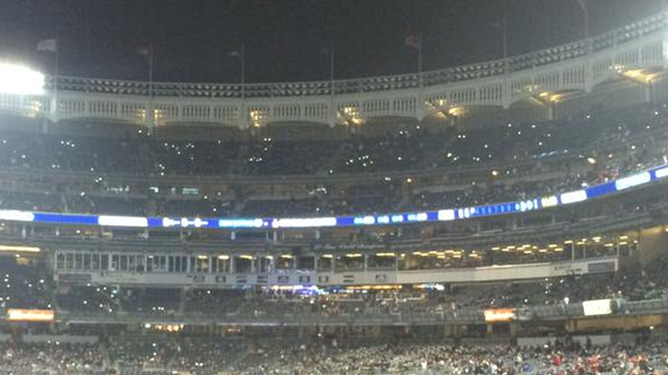 Power outage at Yankees Stadium