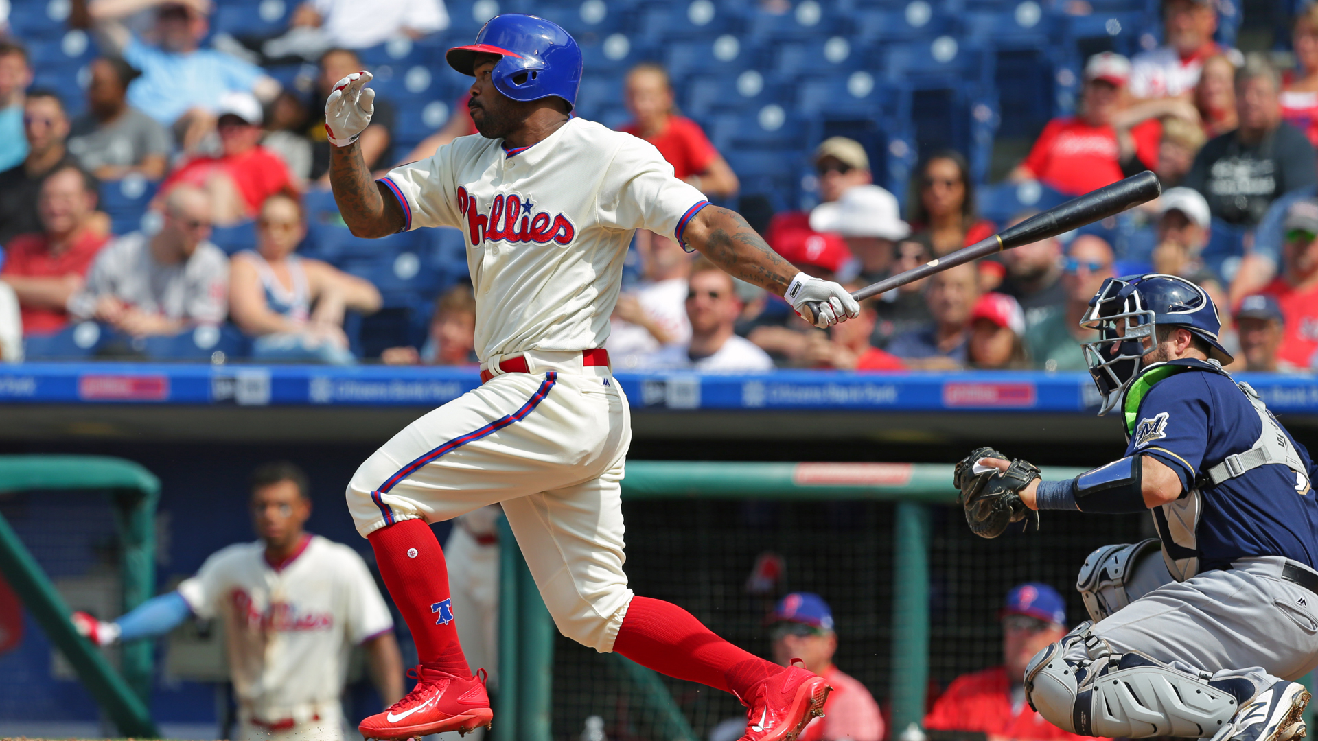 Altherr homers twice to lead Thompson, Phillies past Braves
