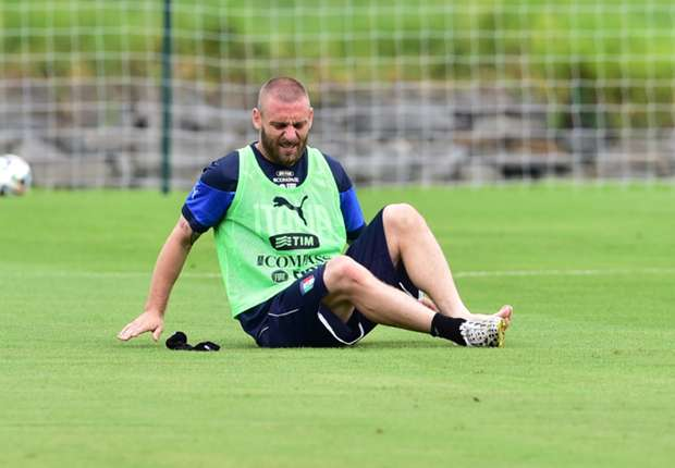 De Rossi 'highly unlikely' to face Uruguay