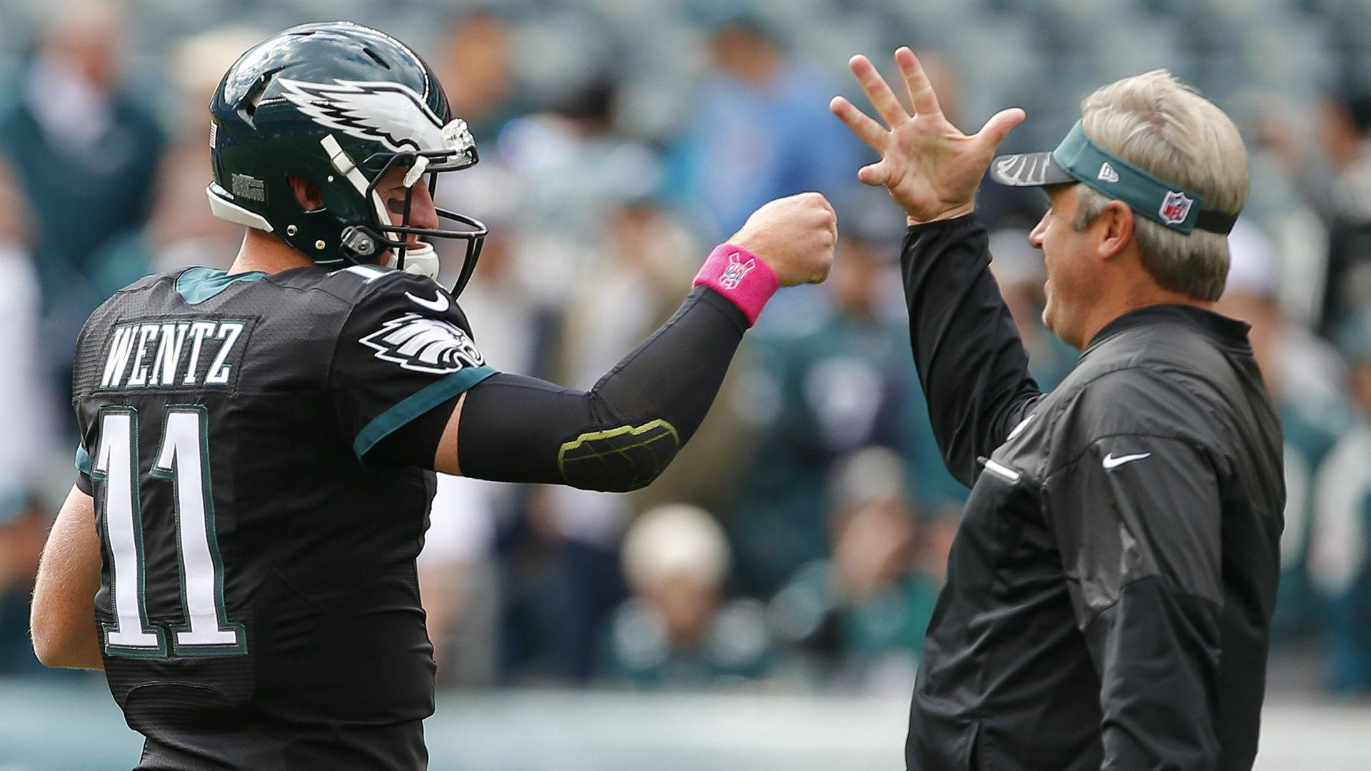 Eagles coach Doug Pederson says Carson Wentz 'is the quarterback going forward'