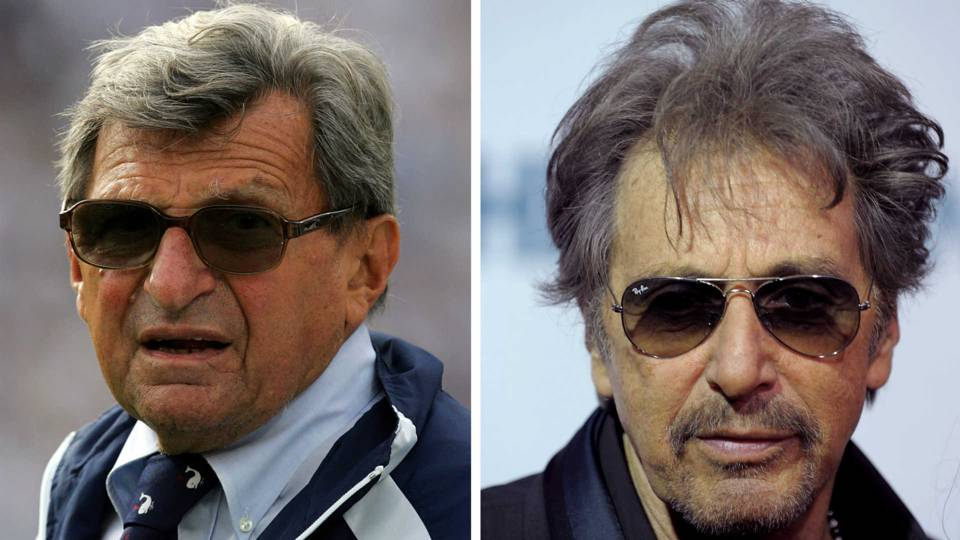 Joe Paterno, left, and Al Pacino