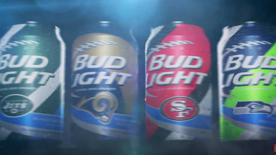 Bud light introduces new cans for 28 nfl teams nfl sporting news bud light 08202015 us news youtube ftr mozeypictures Gallery
