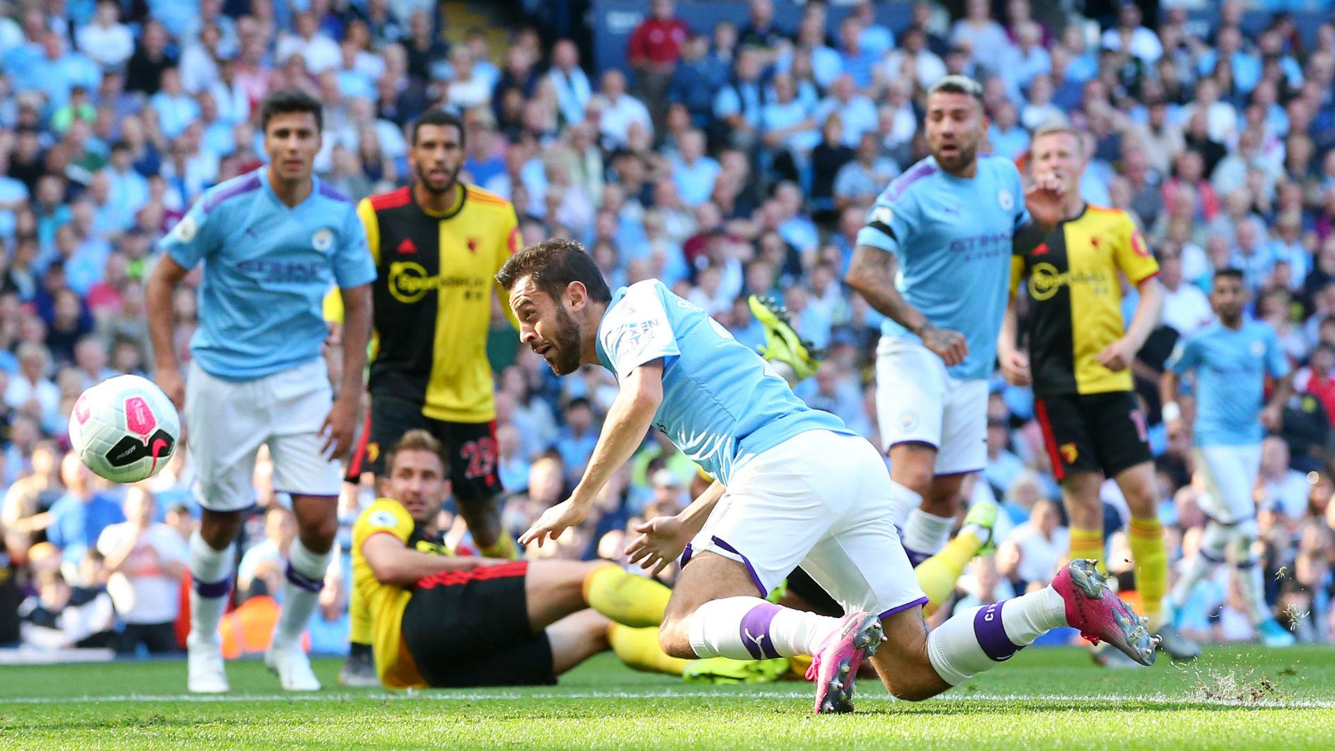 Manchester City 8-0 Watford: Bernardo Silva hits hat-trick in record rout