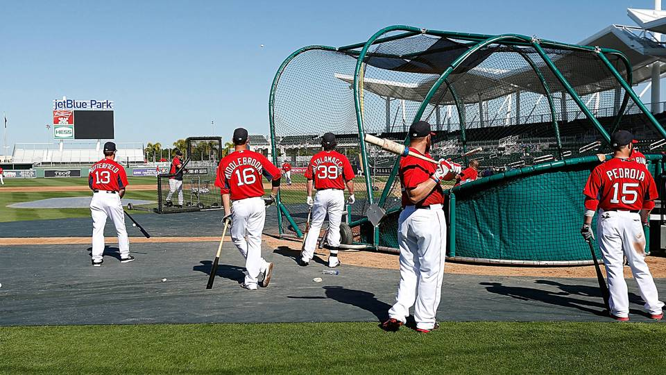 Red Sox Spring Training batting practice