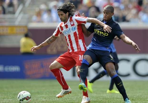 Olympiacos 2(5) - (4) 2 Manchester City: Diamantakos brilla más que Jovetic