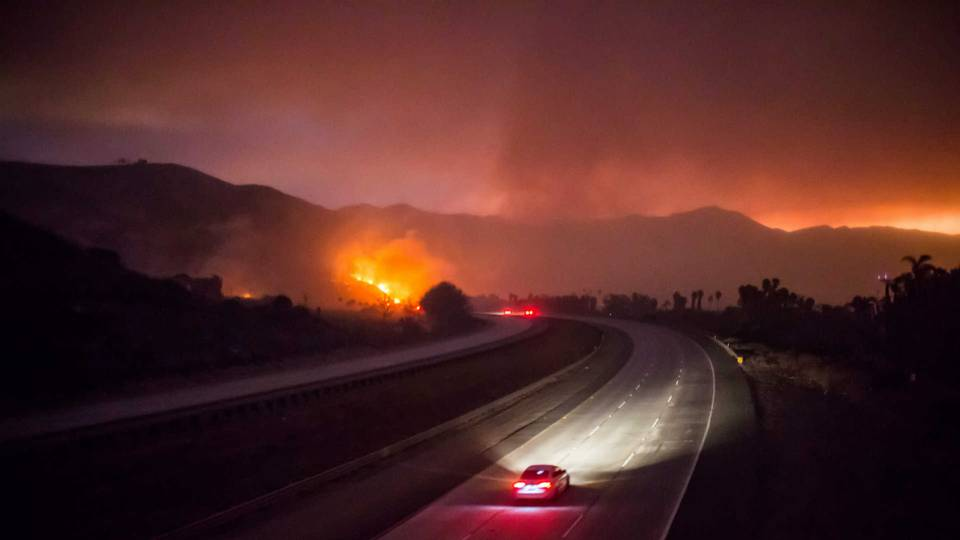 The 101 Freeway in Ventura County, Calif.