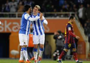 Real Sociedad pair Carlos Vela and Antoine Griezmann