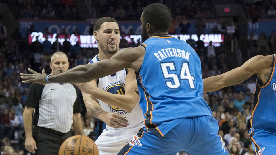 Patrick Patterson (right) and Klay Thompson