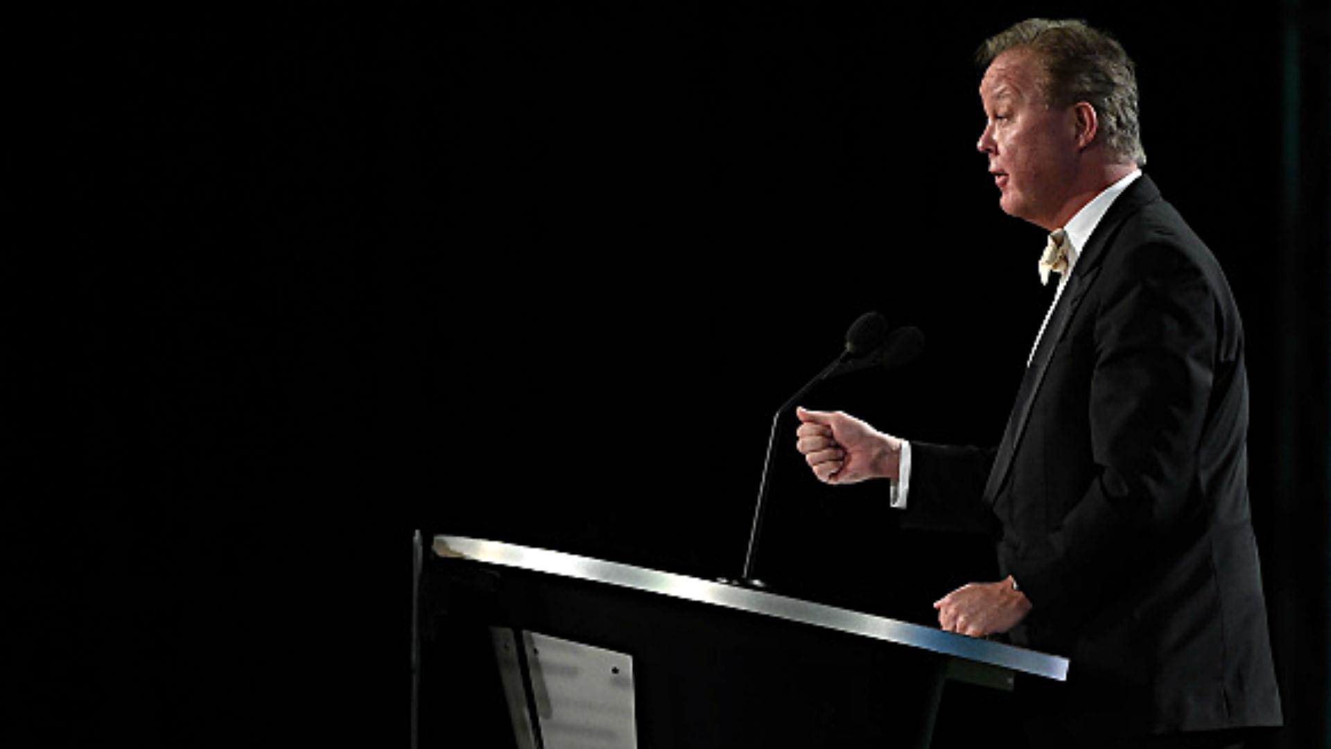 NASCAR CEO Brian France's behavior at awards ceremony creates buzz on social media