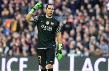 Barca keeper Bravo set for tests on calf strain