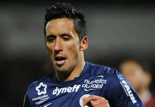 Montpellier forward Lucas Barrios