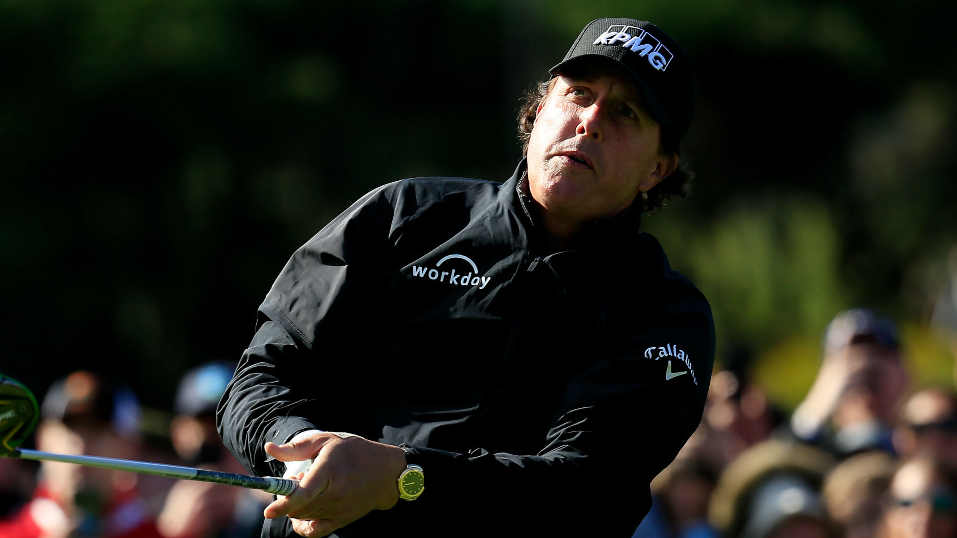 Mickelson on verge of Pebble Beach win