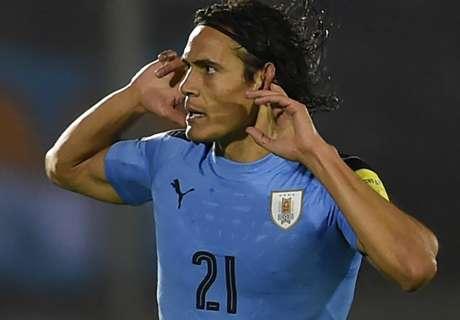 Suarez & Cavani down Paraguay