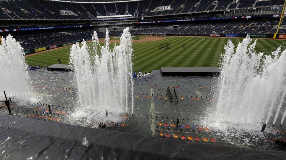 Kauffman Stadium fountain