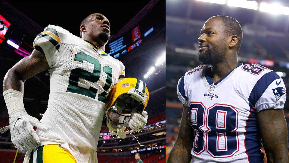 Ha Ha Clinton-Dix (left) and Martellus Bennett