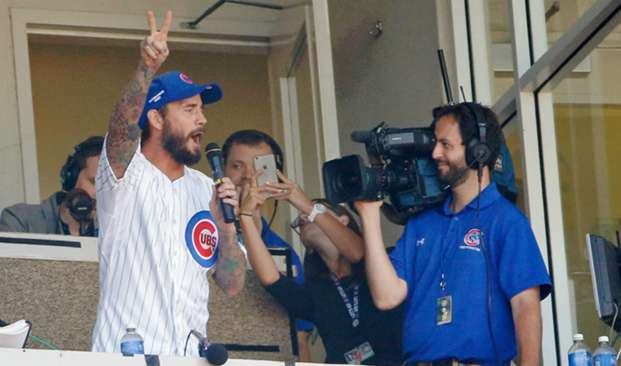 CM Punk last fall at a Cubs game