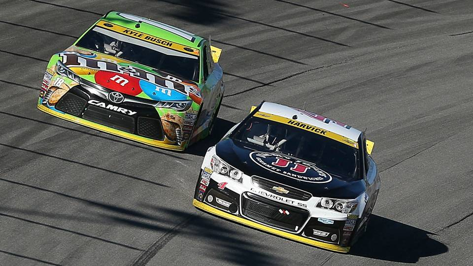 Kyle Busch and Kevin Harvick