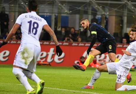 Icardi brace sees off spirited Fiorentina