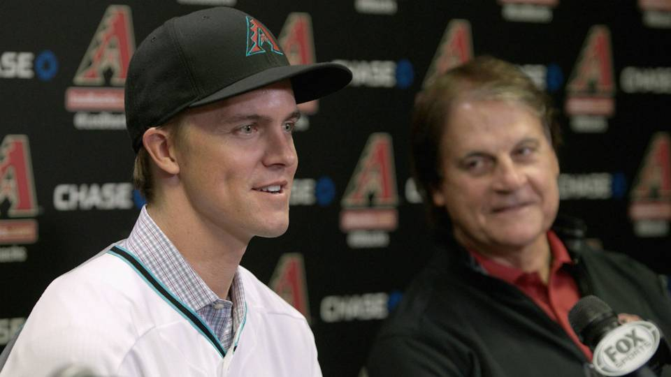 Zack Greinke with Tony La Russa