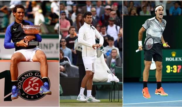 Rafael Nadal Novak Djokovic Roger Federer - cropped