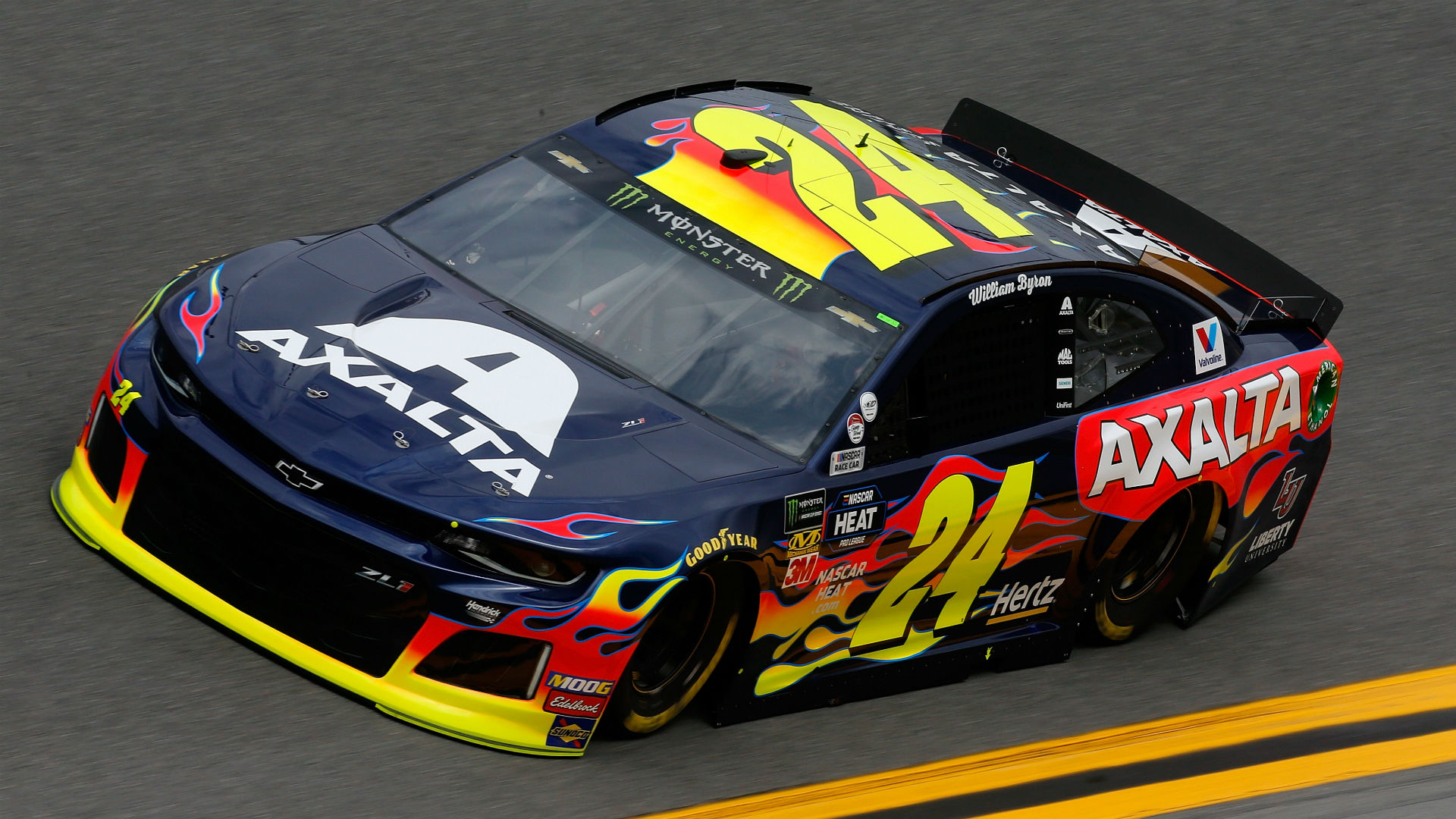 LU-sponsored NASCAR driver William Byron earns pole position for Daytona 500