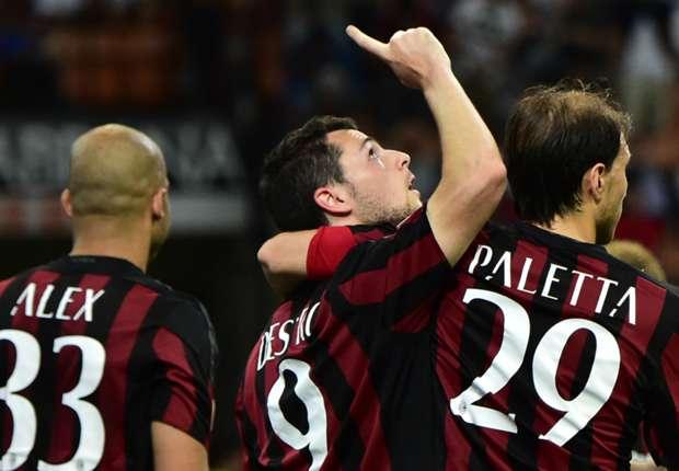 Milan striker Mattia Destro