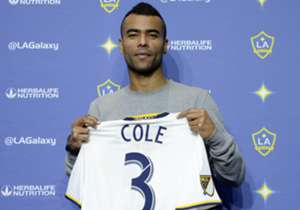 Ashley Cole is presented as an LA Galaxy player