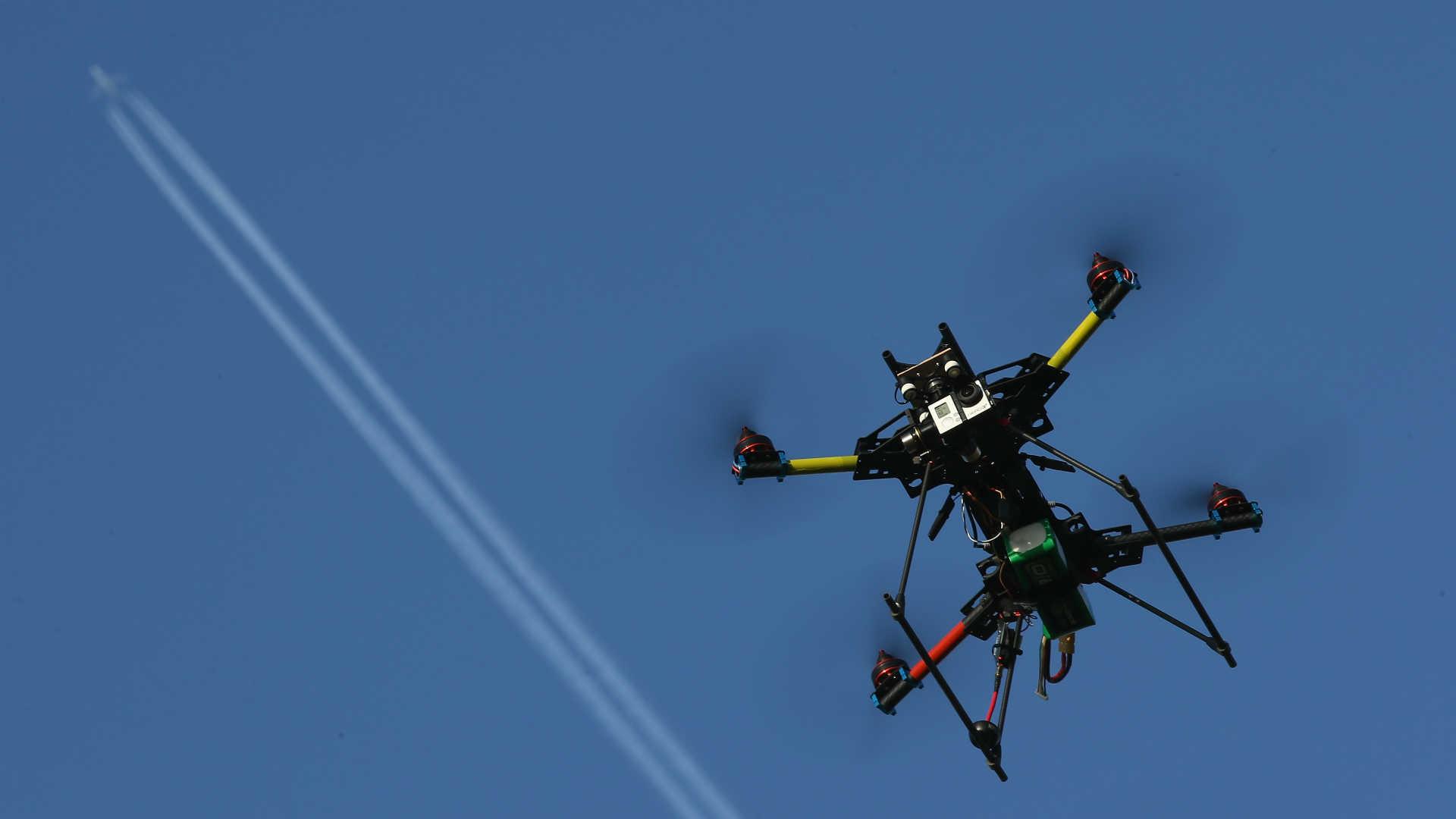 A commercial quadcopter