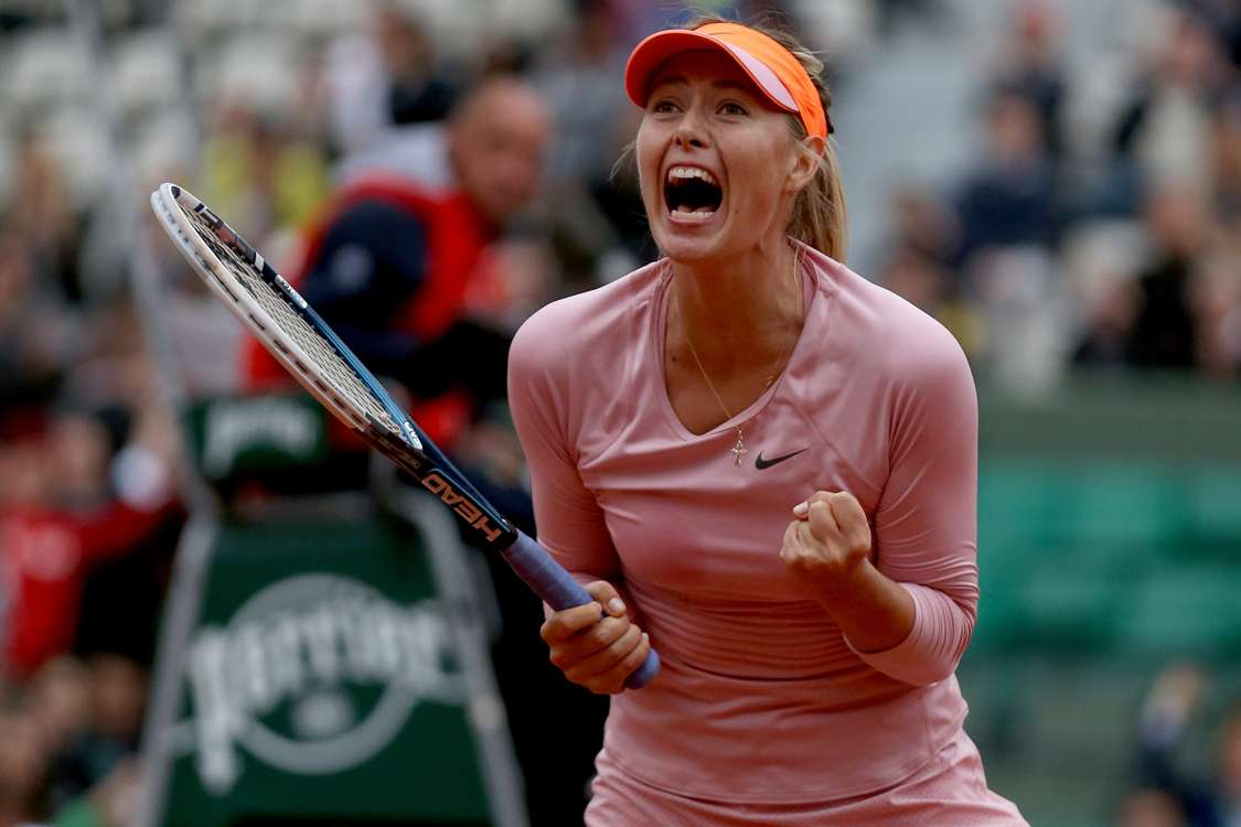 Sharapova fights off Stosur, Bouchard hammers Kerber