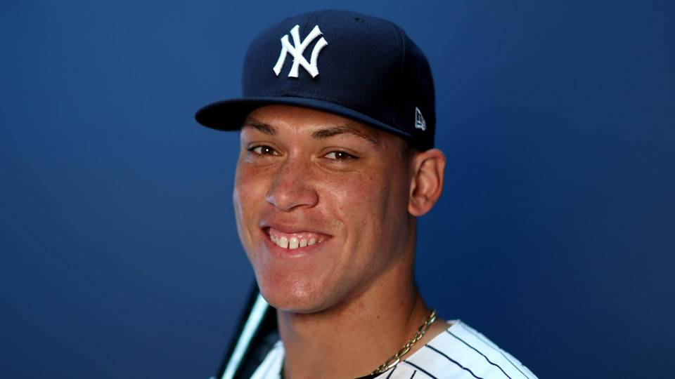 Aaron Judge shows off ...