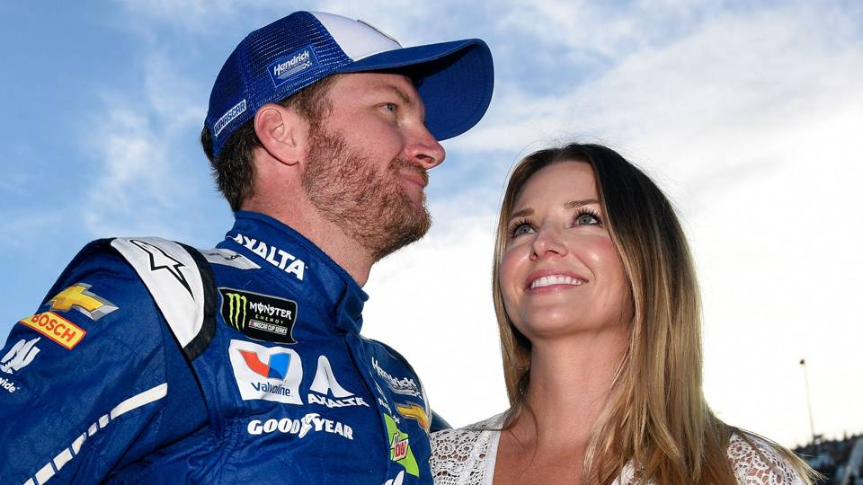 dale earnhardt jr on wife s comments i kind of threw her under