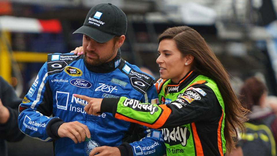 Ricky Stenouse Jr. and Danica Patrick