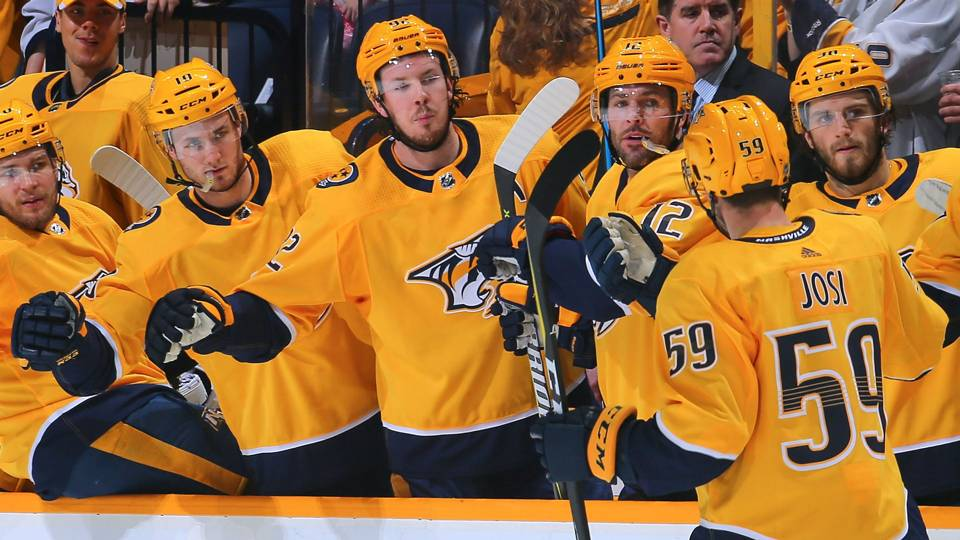 Predators celebrate goal