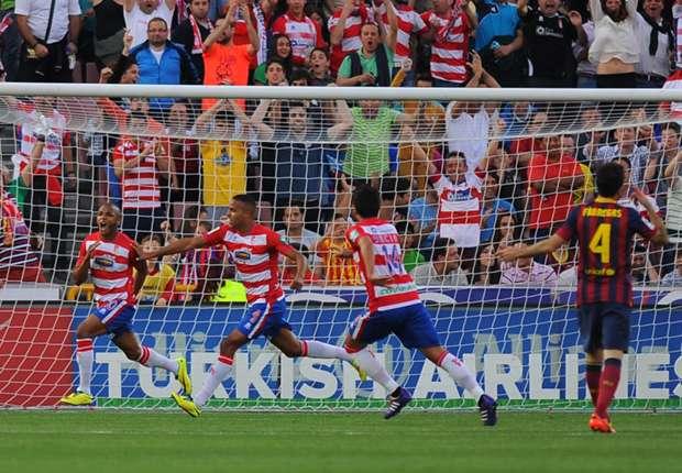 Granadas Yacine Brahimi besiegelte die fünfte Saisonniederlage des FC Barcelona