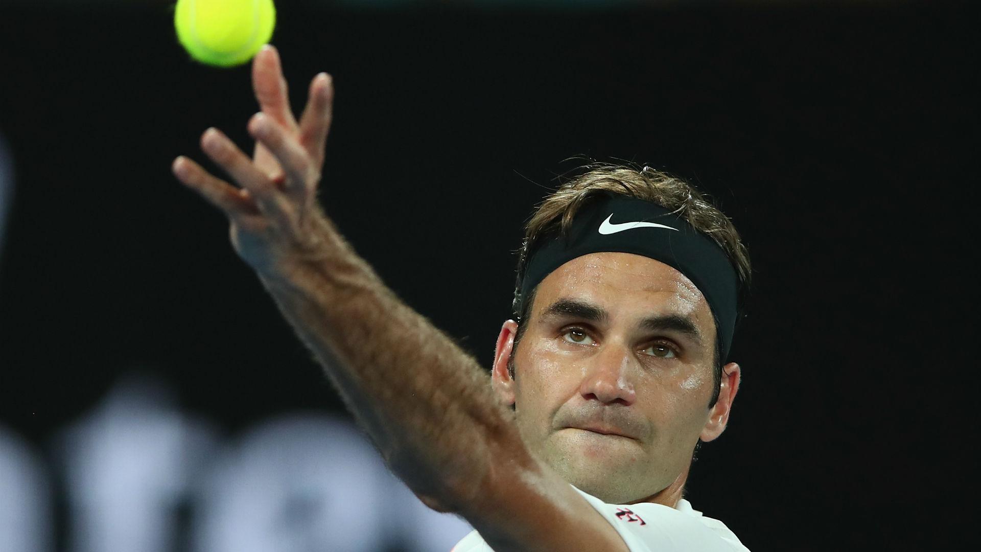 Australian Open second seed Roger Federer