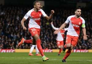 Monaco celebrating against Manchester City