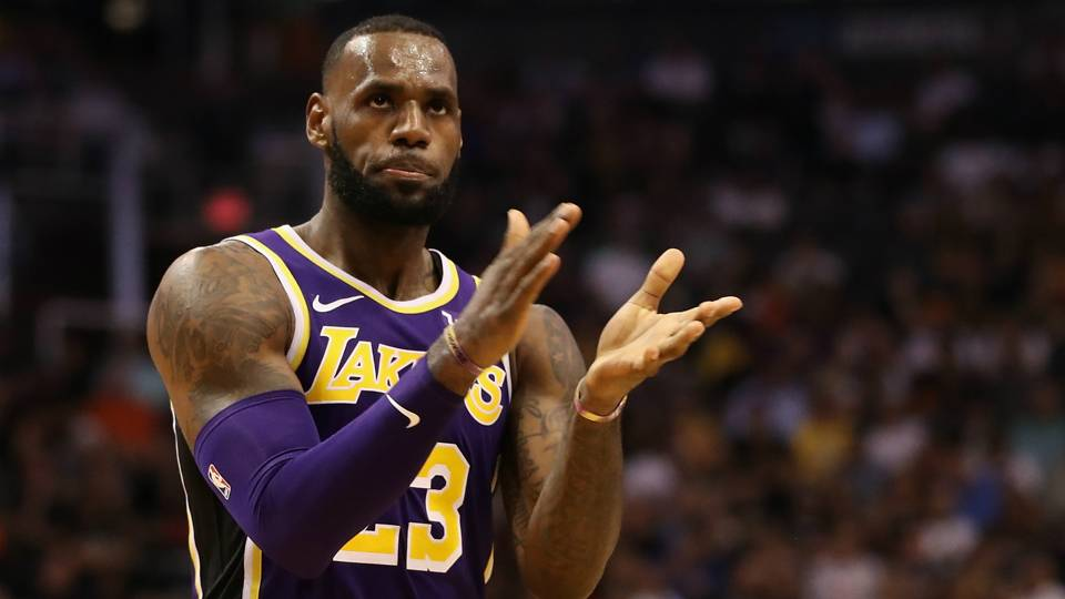 7279a416512 LeBron James revels in first Lakers win