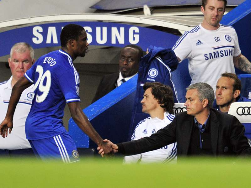 Eto'o: The only thing I have to say about Mourinho is to thank him
