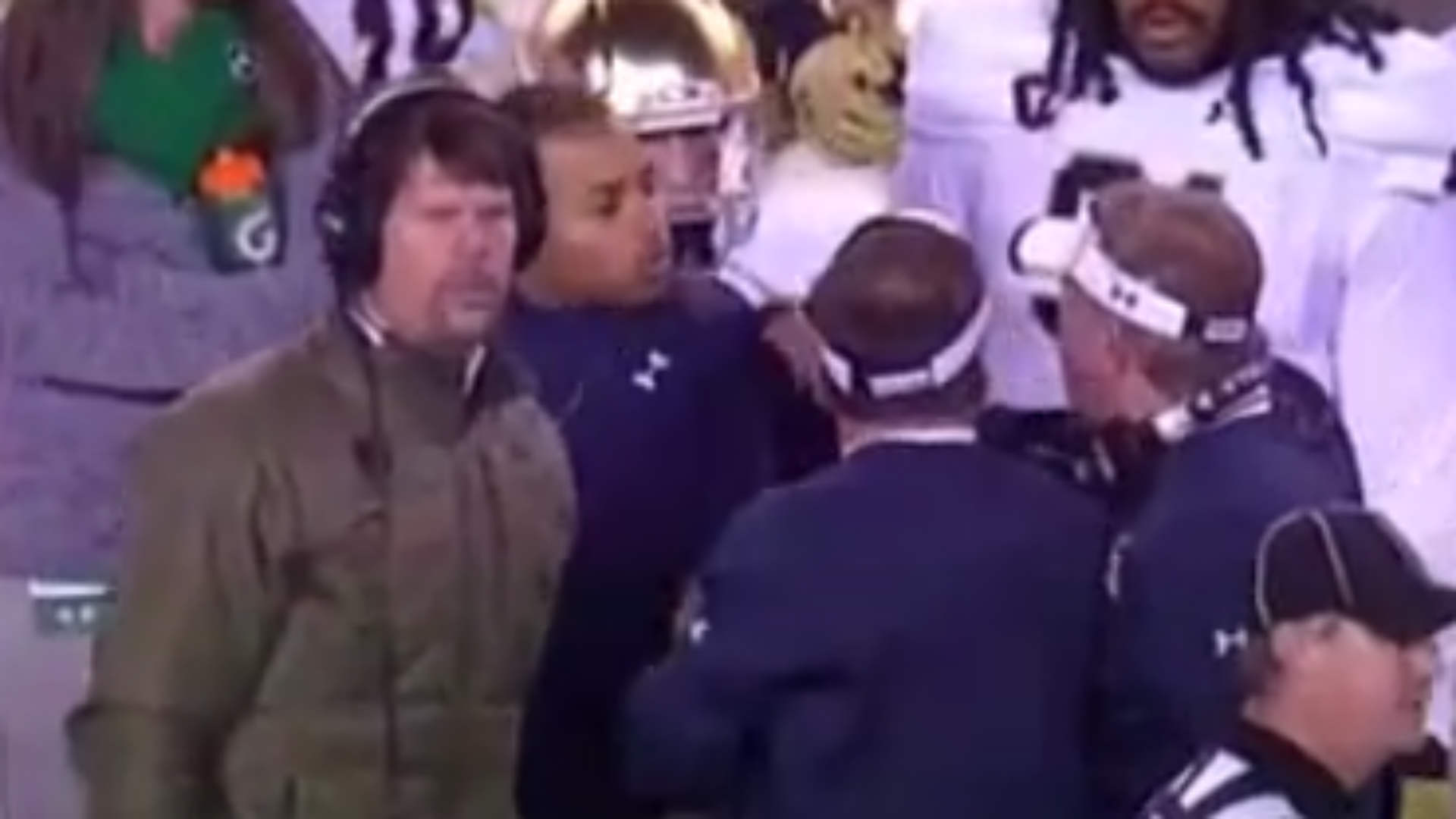 Brian Kelly and David Grimes, left