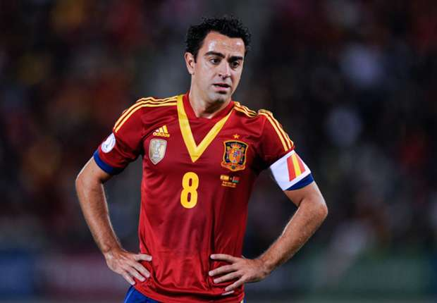 Spain midfielder Xavi