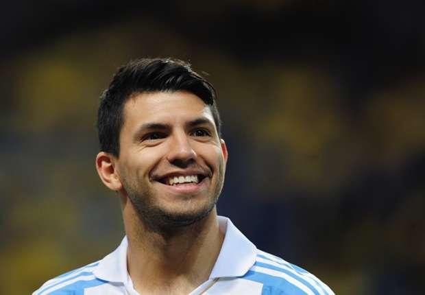 Argentina striker Sergio Aguero.