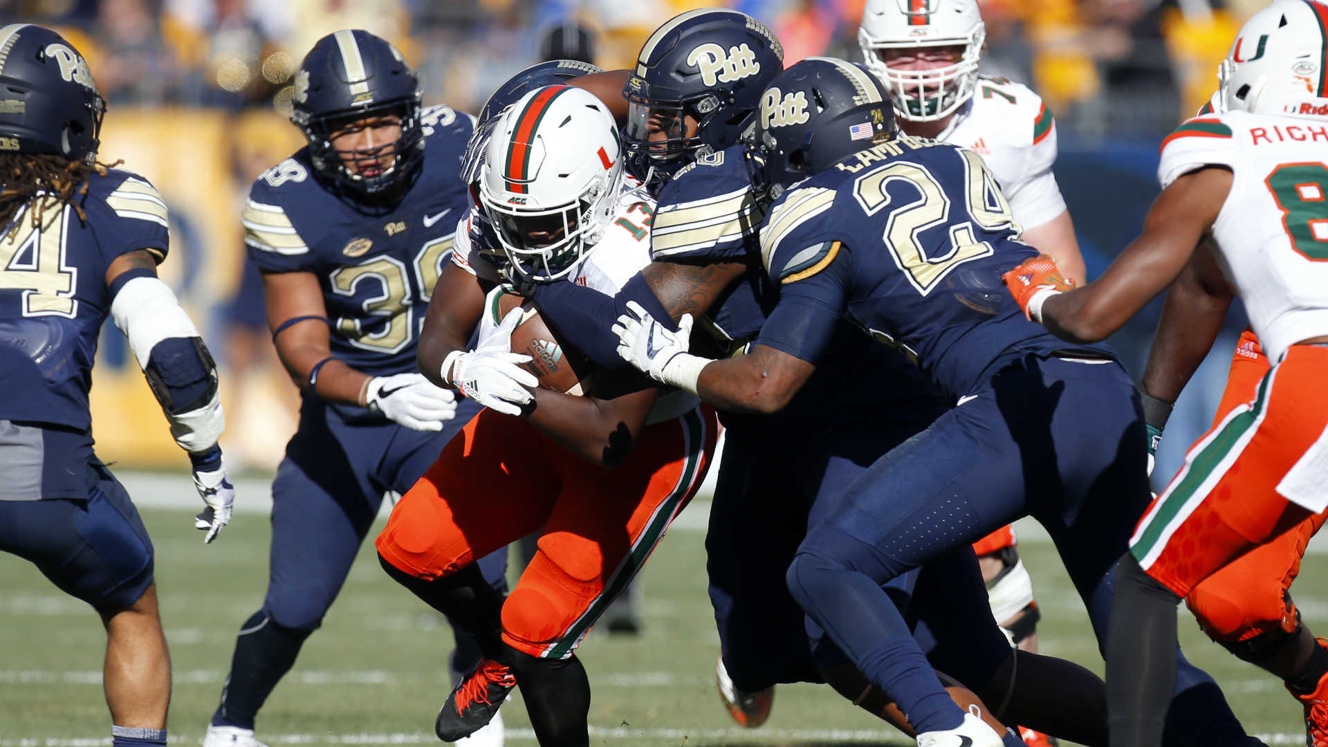 Pitt stuns No. 2 Miami, ends Hurricanes' ideal season