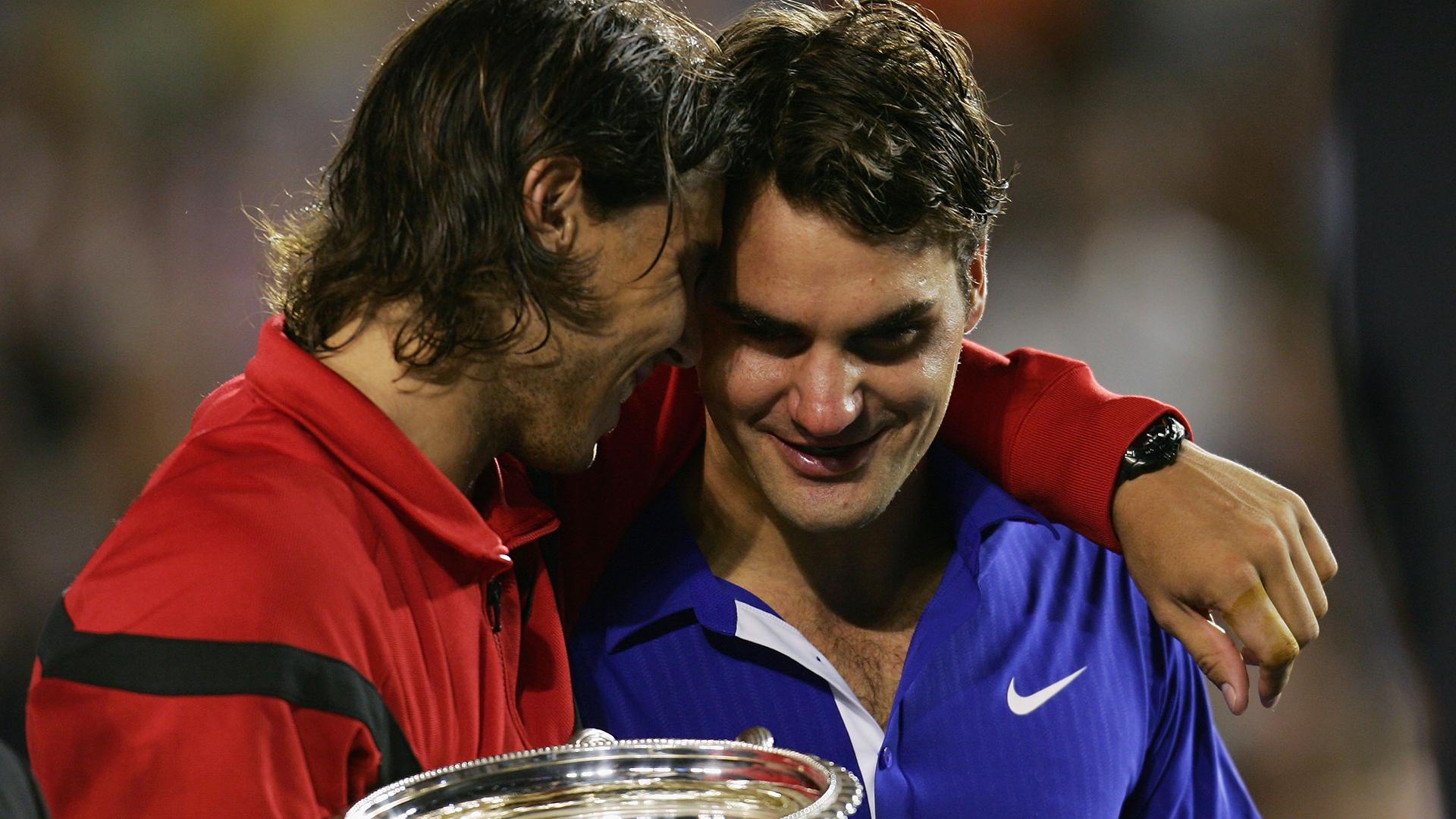 Rafael Nadal/Roger Federer Photos Photos - 2009 Australian Open ...