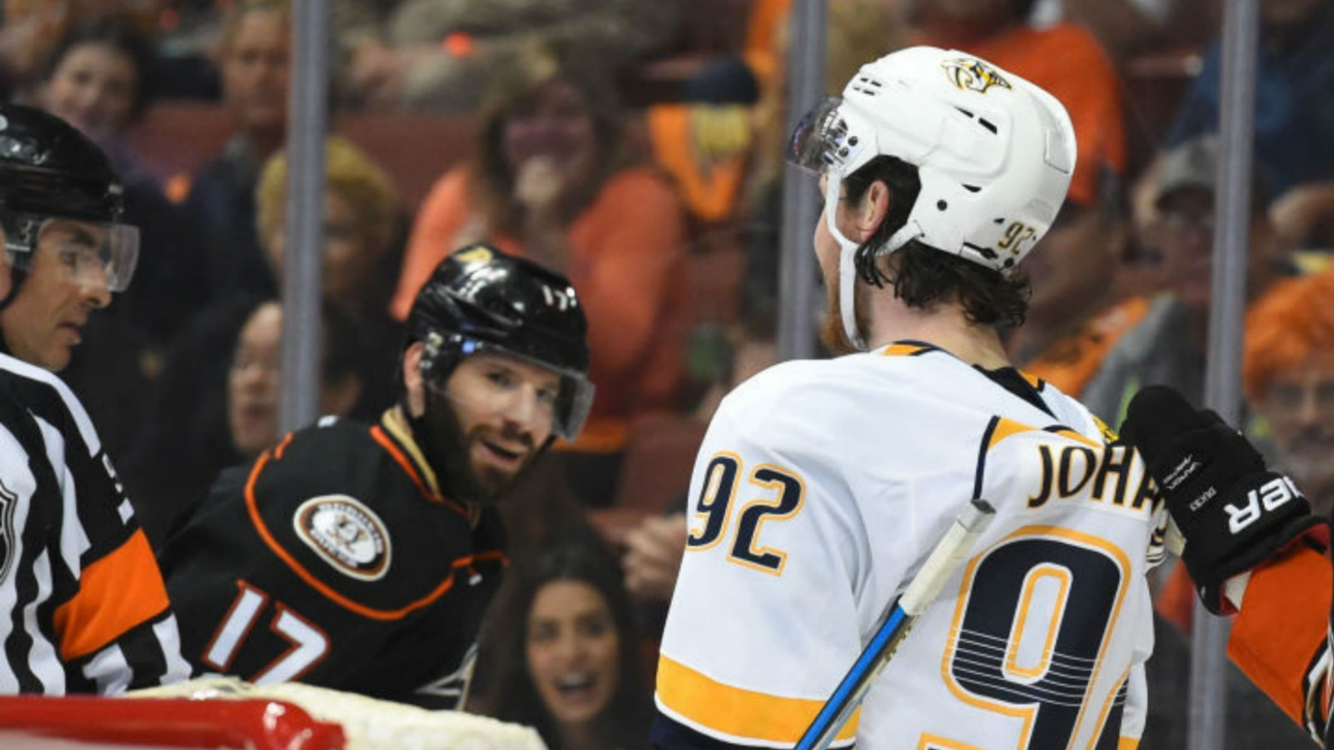 Predators' Johansen rips Ryan Kesler after Game 2
